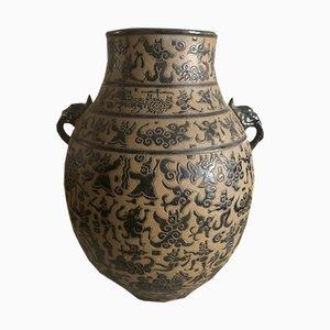 Vase Ancien en Céramique, Vietnam