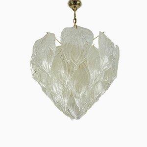 Große Deckenlampe aus Muranoglas von Mazzega, 1960er