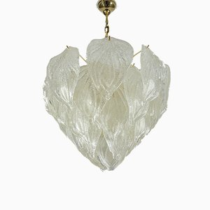 Large Murano Glass Ceiling Lamp from Mazzega, 1960s