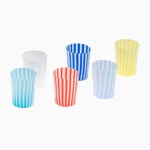 Pastellfarbene Gläser von LPWK, 6er Set