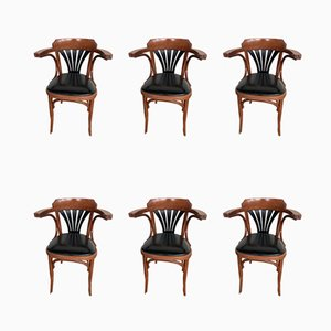 Vintage Bistro Chairs, Set of 6