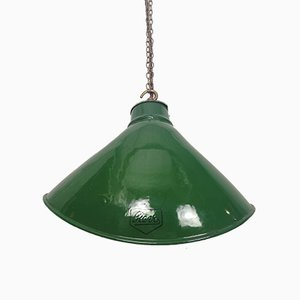 Industrial British Elliptical Factory Ceiling Lamp from Revo UK, 1950s