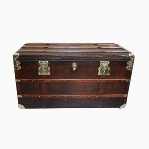 Large Antique French Steamer Trunk from Soyez Pete Lille