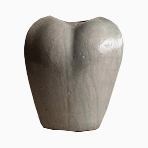 French Stoneware Vase by François Baumlin, 1970s