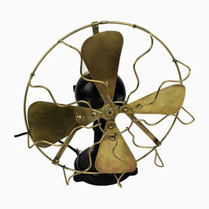 Vintage Industrial Cast Iron and Brass Fan from Siemens, 1920s
