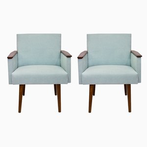 Light Blue Cube Chairs, 1960s, Set of 2