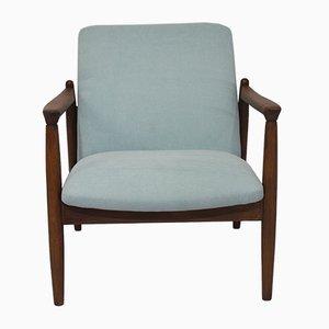 Blauer Vintage Sessel, 1960er