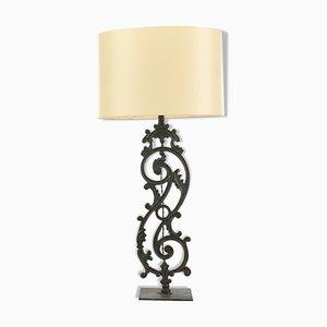 Lámpara de pie de hierro fundido, años 20