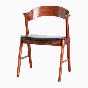 Chaise d'Appoint Modèle 32 en Teck par Kai Kristiansen pour Korup Stolefabrik, années 60