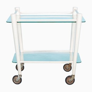 Vintage Glass and Wood Trolley by Cees Braakman for Pastoe, 1960s