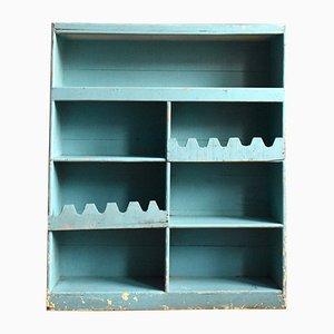 Libreria rustica vintage blu