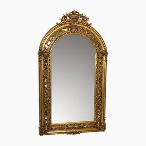 Französischer Spiegel mit vergoldetem Rahmen, 1970er