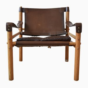 Mid-Century Safari Chair von Arne Norell für Arne Norell AB, 1960er