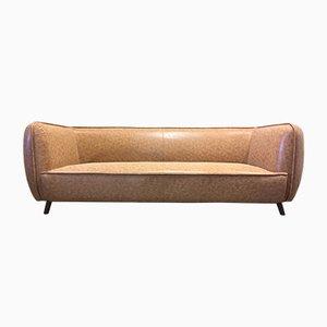 Sofá vintage marrón, años 70