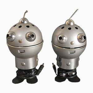 Lámparas de mesa Robot de Satco, años 60. Juego de 2