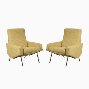 French Model Troika Lounge Chairs by Pierre Guariche for Airborne, 1960s, Set of 2
