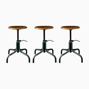 Vintage Adjustable Stools from Flambo, 1950s, Set of 3