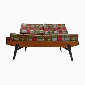 Sofá cama de roble, años 60