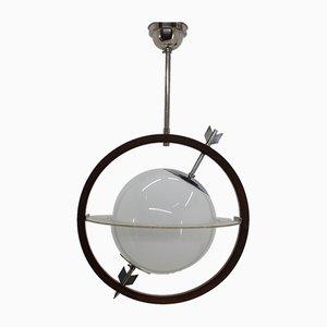 Lampe à Suspension Modèle Saturn par Pietro Chiesa pour Fontana Arte, années 30