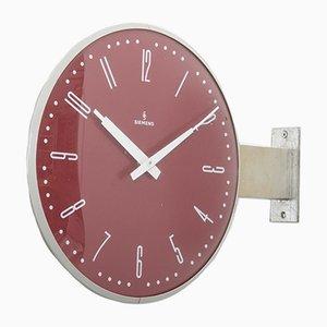 Reloj de estación de tren de Siemens, años 70