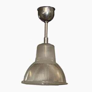 Vintage Industrial French Pendant Lamp from Holophane, 1940s