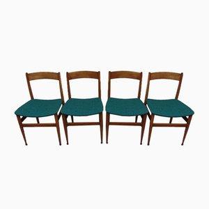 Italienische Mid-Century Esszimmerstühle von Passoni, 4er Set