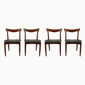 Mid-Century Scandinavian Teak Dining Chairs from Bramin, Set of 4