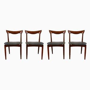 Skandinavische Mid-Century Esszimmerstühle aus Teak von Bramin, 4er Set