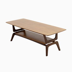 Sculptural Teak Coffee Table by Louis van Teeffelen for WéBé, 1960s