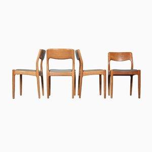 Dänische Esszimmerstühle von Juul Kristensen, 1970er, 4er Set