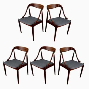 Scandinavian Teak Dining Chairs by Johannes Andersen for Udlum Mobelfabrik, 1960s, Set of 5