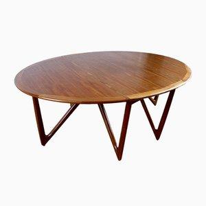 Mesa de comedor escandinava de teca de Kurt Østervig para Jason Møbler, años 60