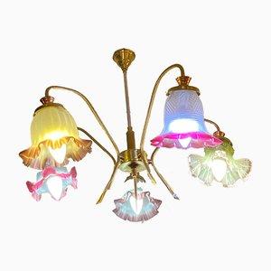 Deckenlampe aus Messing, 1950er