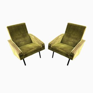 Vintage French Lounge Chairs by ARP, 1950s, Set of 2