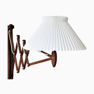 Lámpara de acordeón 332 de palisandro de Hansen, Erik para Le Klint, años 60