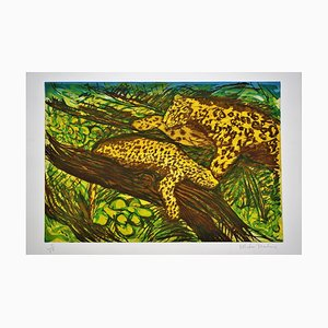 Leopards from the Odysseys of Enoch Suite Print by Malcolm Morley, 1980s
