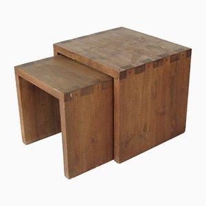 Mesas nido vintage de teca, años 70