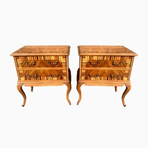 Mid-Century French Nightstands, Set of 2