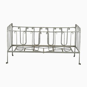 Vintage Wrought Iron Crib