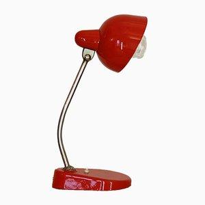 Lámpara de mesa vintage en rojo, años 50