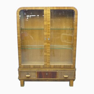Art Deco Walnut and Oak Cabinet, 1930s