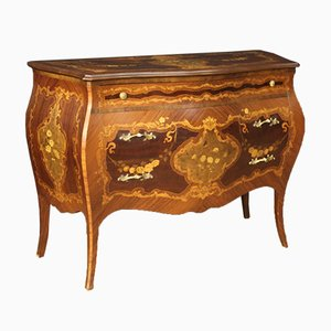Italian Inlaid Rosewood, Walnut, Maple, Mahogany, and Fruitwood Dresser, 1960s