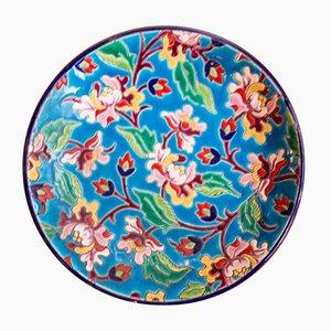 Piatto colorato di Longwy, anni '30