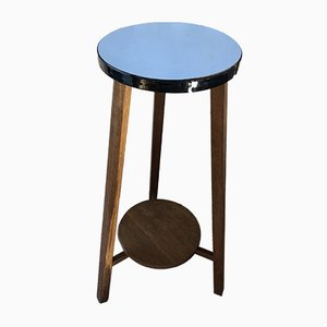 Mid-Century Blue Formica Tripod Plant Stand