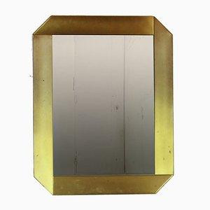 Specchio in ottone di Massimo Scolari per Valenti Luce, anni '70