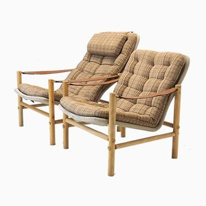 Model Junker Lounge Chairs by Bror Boije for Dux, 1970s, Set of 2