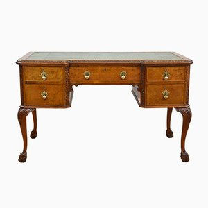 Vintage Burl Walnut Desk, 1920s