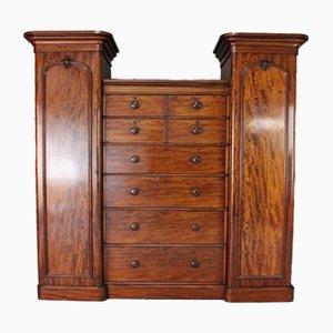 Antique Victorian Mahogany Compactum Wardrobe