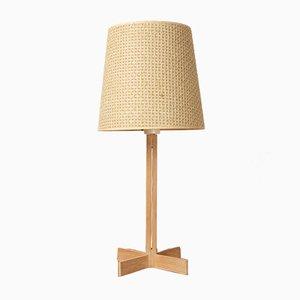 Lámpara de mesa vintage de roble de Hans-Agne Jakobsson para Markaryd, años 60