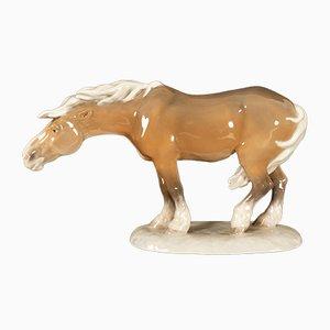 Vintage Pferdefigur aus Porzellan von Lauritz Jensen für Royal Copenhagen, 1968